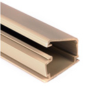 HellermannTyton Cable Raceway 1 1/4 Inch One Piece Surface Raceway. 8 Ft. Ivory