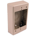 HellermannTyton TSRI-JB1 Single Gang Junction Box - 1-1/4 Inch Deep - Ivory