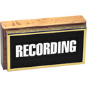 Horizontal Studio Warning Light - Recording in Gold Lettering