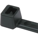 Hellermann Tyton 8 Inch Black Nylon Cable Ties (18 Pounds Tensile Strength) - 1000 Pack