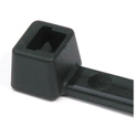 Hellermann Tyton T50S0M4  6.3 Inch Black Nylon Cable Ties (50 Pounds Tensile Strength) - 1000 Pack
