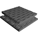 Sonex Classic Polyurethane Acoustic Foam 24 x 48 x 3 Inch Box of 6 - Charcoal