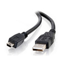 USB 2.0 Type A Male to 5-Pin Mini-USB B Male Cable 6 Foot