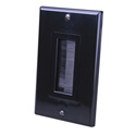 Vanco 120818X 1-Gang Decor Style Brush Bulk Cable Wall Plate Black