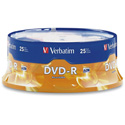 Verbatim 16x Write Once DVD-R 25 PK Spindle