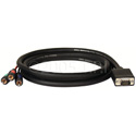 TecNec Premium VGA to 3 RCA Component Cable 6Ft