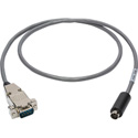 Visca Camera Control Cable 9-Pin D-Sub Male to 8-Pin DIN Male 3 Foot
