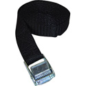 VMP Safety/Security Strap 1inx10ft W/Saw Tooth Cinching Buckle - Black