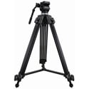 Varizoom VZ-TK75A Aluminum Video Tripod w/ 75 mm Fluid Head and Carry Case
