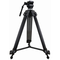 Varizoom VZ-TK75A Aluminum Video Tripod w/75mm Fluid Head & Carry Case