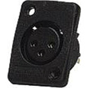 Whirlwind 3-Pin Female XLR Panel Mount Black