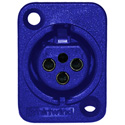 Female XLR Panel Mount Blue