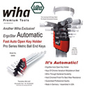Wiha 66996 ErgoStar Ball Hex 9 Pc. Metric Set