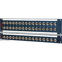AVP 1x16/ 1RU /16 JJ300 /3Ghz Feedthru BNC Non-Recessed Patchbay