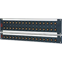 AVP JJ300 1RU 1x16 3Ghz Semi-Recessed BNC Feedthru Patchbay