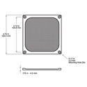 Orion WMG120B 120mm Black Anodized Wire Mesh Guard