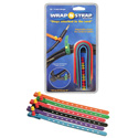 Wrap N Strap 900M 9inch Adjustabl Cord and Cable Straps/Fasteners - 6 pack (Mixe