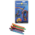 Wrap N Strap 906M 6inch Adjustabl Cord and Cable Straps/Fasteners - 6 pack (Mixe
