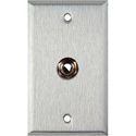 1-Gang Stainless Steel Wall Plate with 1 1/4-Inch TRS Phone Jack