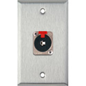 1G Stainless Steel Wall Plate w/1 NJ3FP6C 1/4-In. TRS Latching Jack