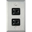 1-Gang Stainless Steel Wall Plate with 2 TecNec Cat 6 Barrels