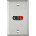 1-Gang Stainless Steel Wall Plate with 1 Dual Binding Post Connector