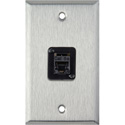1G Stainless Steel Wall Plate with 1 TecNec RJ45 Barrel