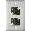 1-Gang Stainless Steel WallPlate With (2) HDMI Feedthru