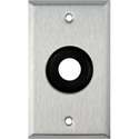 1-Gang Stainless Steel Wall Plate with One 3/4 inch Grommet