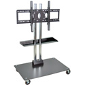 H Wilson WPSMS44CH - 45-Inch Stationary Flat Panel TV Stand & Mount with Casters