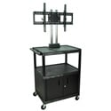 H. Wilson WPTV44C2E Mobile Cabinet Cart w/Universal LCD 37-60-Inch TV Mount