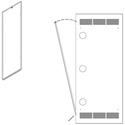 Middle Atlantic WR-RAP-37 Rear Access Panel for WR-37 Racks