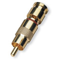White Sands RCAFPSLC59G Full Size RCA Male Fixed Pin Compression Connector -Gold