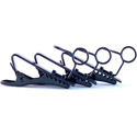 WindTech TC-6 Black Lapel Mic / Lavaliere Mic Tie Clips - 3 Pack