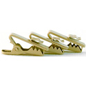 WindTech TC-8 Tan Lapel/Lavaliere Mic Tie Clips for 1-2mm Cables - 3 Pack
