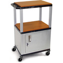 H. Wilson WT2642C2E Adjustable Utility AV Cart Black