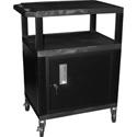 H. Wilson WT26C2E Utility AV Cart 26 Inch High w/4 Inch Casters Black