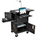 Wilson WTPSCE 41 In. High Black Tuffy Ultimate Video Presentation Cart