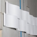 Sonex WWR-2  WhisperWave Accoustical Foam Ribbon Wall Panels - 18in x 48in - White - Box of 4 Panels