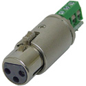 Rolls XLF112 3-Pin XLR Female to Barrier Strip Test Plug