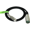 TecNec Premium Quality XLR Male-Mini Mono Female Audio Cable 3Ft