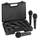 Behringer UltraVoice XM1800S Dynamic Cardioid Vocal and Instrument Mic 3-Pack