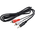 TecNec YA-101 Breakout 3.5mm Stereo Mini Male to 2 RCA Males 6 Foot