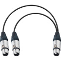 XLR Female to Dual XLR Female Y-Cable