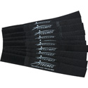 Cord-Lox 5/8in x 5 Inch Hook & Loop Closed Loop Cable Tie Wrap 10 Pk Black