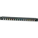 Canare 161U-FJR Bulkhead F Connector 16 Point 1RU Patch Bay