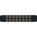 Switchcraft E Series 16-Point BNC Feed-Thru Barrel to BNC Feed-Thru Barrel Patch Panel - 2RU