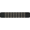 Switchcraft E Series 16-Point RCA Feed-Thru to BNC Feed-Thru Barrel Patch Panel