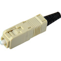 Senko 254-291-9L2 UPC Premium 127um MultiMode 3mm SC Connector with Black Boot