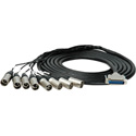 Sescom Built Canare Analog 25Pin DSub Male to 8 XLR Male  Audio Cable with 18 Inch Fanouts - 5 Foot